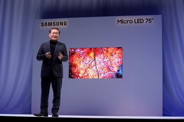 Samsung shows off 75-inch 4K MicroLED display