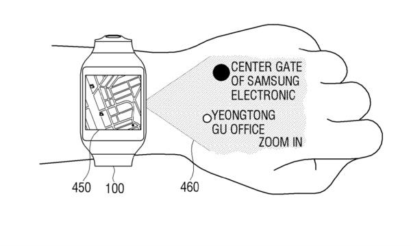 Samsungin älykellokonsepti sisältää projektorin