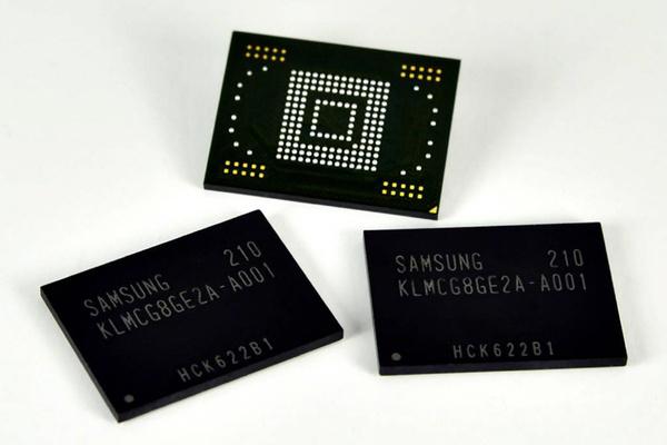 Samsung aloittaa uusien nopeiden NAND-muistien valmistuksen älypuhelimille ja tableteille
