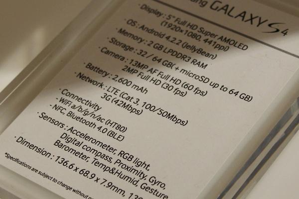 IHS iSuppli selvitti Samsungin Galaxy S4:stä maksaman hinnan