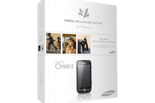 Samsungilta Omnia II miljonääripakkauksessa