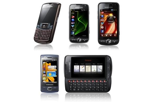 Samsung esitteli liudan kosketusnäyttöpuhelimia