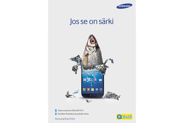 Samsungin puhelimen voi lähettää huoltoon R-kioskin kautta