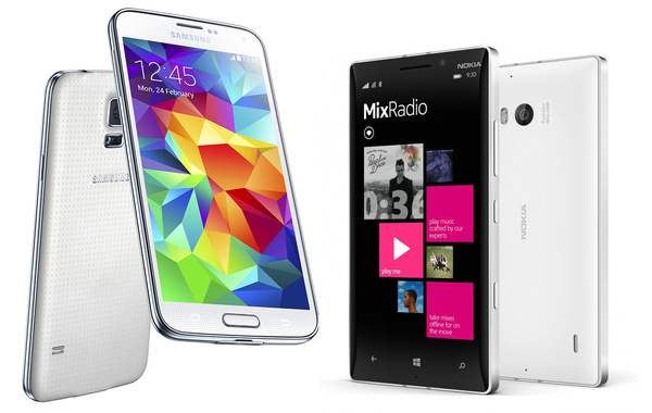 Kumpi ostoksilta kotiin, Samsung Galaxy S5 vai Nokia Lumia 930?