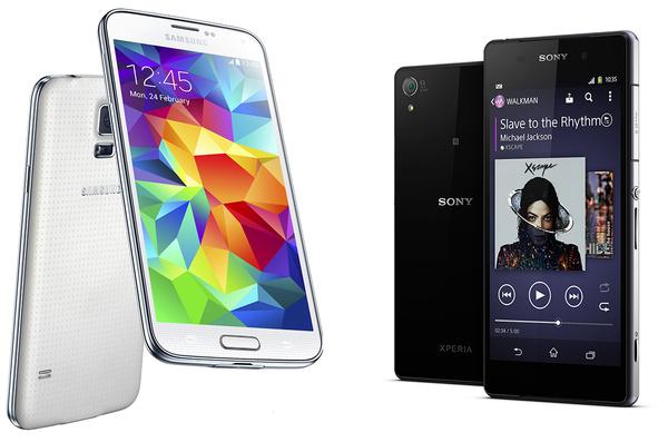 Vertailussa Samsung Galaxy S5 ja Sony Xperia Z2
