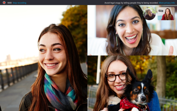 Skype enables call recording features