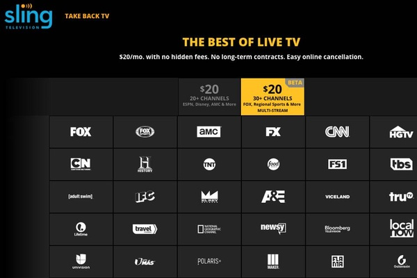 Sling TV launches new service with multi-stream and Fox channels