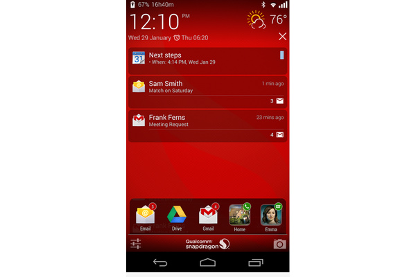 Qualcommin sovellus toi Androidille oman vilkaisunäytön