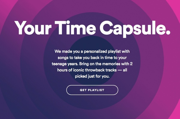 Spotify's Time Capsule takes you down the memory lane