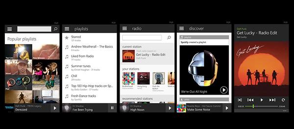 Uusi Spotify julkaistiin Windows Phone -puhelimille, mukana uusia ominaisuuksia