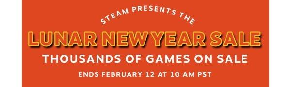 The Steam 'Lunar Year Sale' has begun