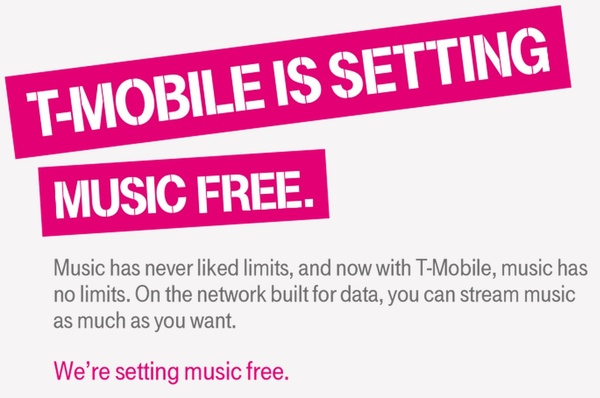 T-Mobile adds more music streaming to its list of streaming services that don't count towards data caps