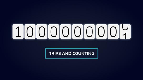 Uber celebrates 1 billion trips just as the calendar turns