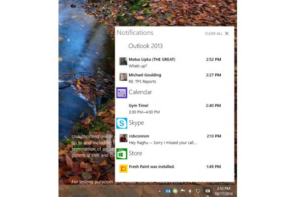Windows 10 oppi tempun Windows Phonelta: Sai ilmoituskeskuksen