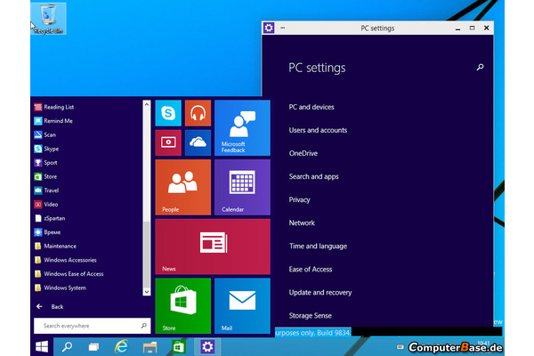 Uusia kuvakaappauksia Windows 9:stä julki