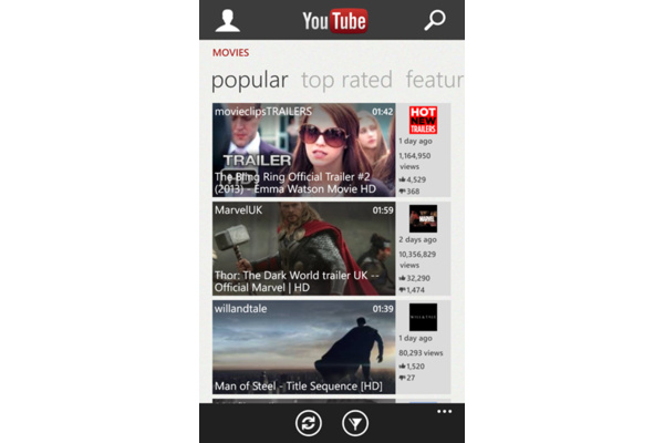 Youtube palasi Windows Phonen sovelluskauppaan
