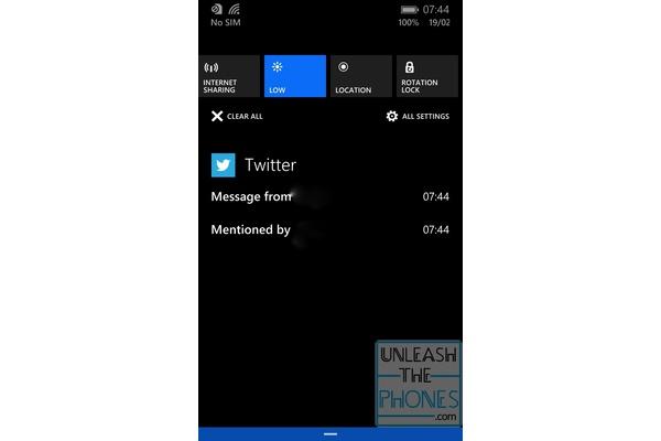 Windows Phonen tuleva ilmoituskeskus videolla
