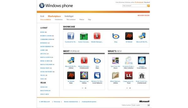 Windows-puhelinten sovelluskauppa nyt myös verkossa
