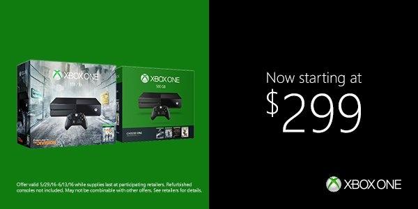 Microsoft drops price of Xbox One ahead of E3