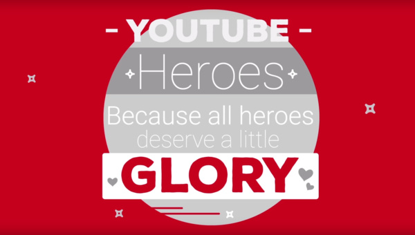 YouTube offers a badge to users, calls them Heroes