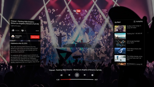 YouTube VR is now available on Steam, supports HTC Vive