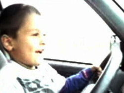 Video posted of 7 year old driving an SUV - criminal charges likely