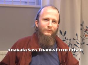 Anakata (Per Gottfrid Svartholm Warg) bedankt iedereen vanuit de gevangenis