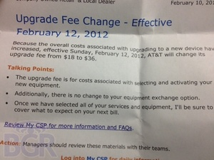 AT&T doubling their upgrade fees