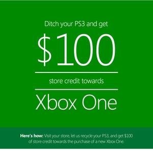Microsoft ampuu kovilla: lupaa 100 dollaria Xbox Onen ostoon, mikäli hankkiudut eroon PS3:sta
