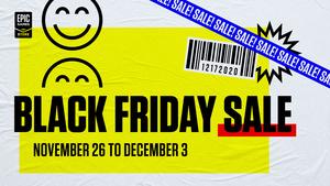 Myös Epic Games Storessa käynnistyi Black Friday - paljon pelejä alennuksessa 3. joulukuuta asti