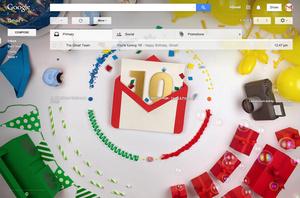 Gmail is 10 jaar geworden.