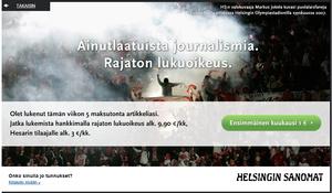 Helsingin Sanomat pystytti huokoisen maksumuurin, kiertäminenkin helppoa