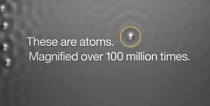 Maailman pienin elokuva - näyttelijöinä yksittäiset atomit (video)