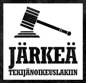 Järkeä tekijänoikeuslakiin -kansalaisaloite eduskunnalle ensi viikolla