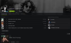 John Lennonin sooloartistituotanto saapui Spotifyhin