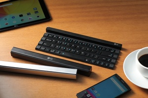 LG builds 'Rolly Keyboard,' a QWERTY keyboard that rolls up into a small, portable stick