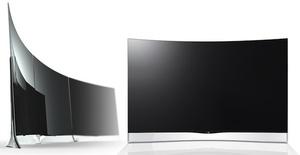 Sony, LG ja Samsung esittelivät kaarevia televisioita