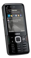Nokia N82 pukeutui mustaan