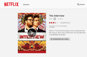The Interview nu te zien via Netflix