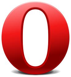 Opera 11.10 ulkona uuden kalliin mainoksen kera