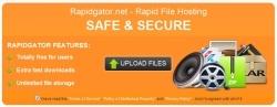 RapidGator offline gezet door webhoster