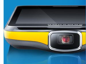 Pikatestissä Samsung Galaxy Beam - älypuhelin pikoprojektorilla