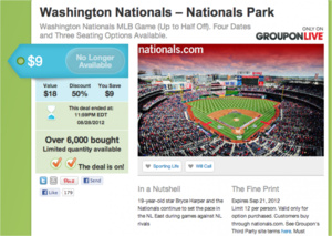 Groupon partners with all MLB teams