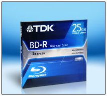 TDK ready to ship 25GB Blu-ray recordable media