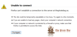The Pirate Bay nog steeds onbereikbaar
