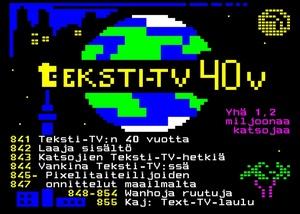 Ylen Teksti-TV täyttää 40 vuotta