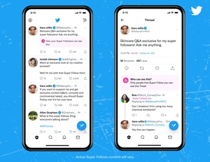 Twitterin maksullinen Superseuraus -tilaus saapui ensimmäisille käyttäjille