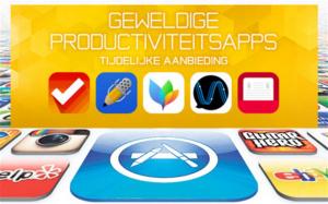 Apple doet tijdelijk 20 iOS productiviteitsapps in de uitverkoop