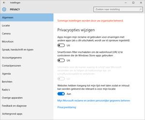 Snel privacy-instellingen in Windows 10 aanpassen
