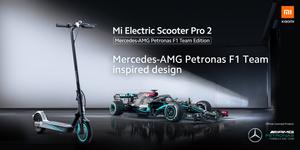 Valtteri Bottaksen käyttämä Xiaomi Mi Scooter Pro 2 Mercedes-AMG Petronas F1 Team Edition -sähköpotkulauta myyntiin Elisalle